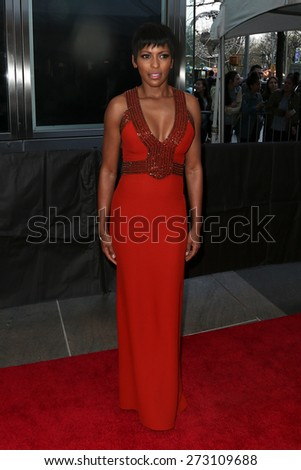 NEW YORK-APR 21: TV personality Tamron Hall attends the 2015 Time 100 Gala at Frederick P. Rose Hall, Jazz at Lincoln Center on April 21, 2015 in New York City. - stock photo