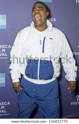 "NEW YORK - APRIL 24: Actor Tracy Morgan attends World Premiere of ""The Battle of amfAR"" during the 2013 Tribeca Film Festival on April 24, 2013 in New York - stock photo"