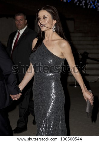 NEW YORK - APRIL 17: Actress Catherine Zeta Jones attends the Vanity Fair Party during 2012 Tribeca Film Festival at the State Supreme Courthouse on April 17, 2012 in New York CIty - stock photo