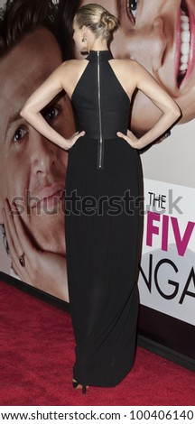 NEW YORK - APRIL 18: Actress Leelee Sobieski attends premiere Five-Year Engagement at Ziegfeld Theatre during 2012 Tribeca Film Festival on April 18, 2012 in NYC