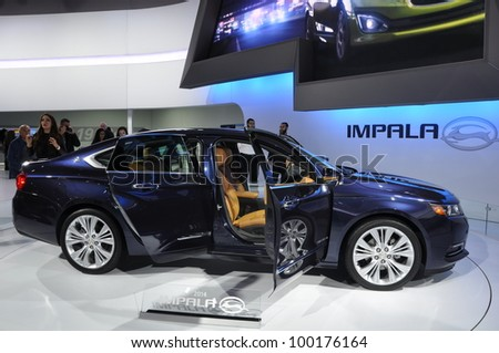 NEW YORK - APRIL 11: Chevy Impala at the 2012 New York International Auto Show running from April 6-15, 2012 in New York, NY. - stock photo