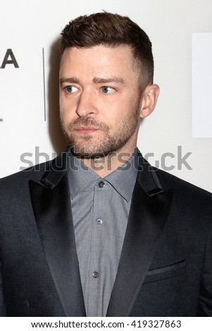 "NEW YORK - APRIL 14, 2016: Justin Timberlake attends the premiere of ""The Devil and the Deep Blue Sea"" during the Tribeca Film Festival on April 14, 2016 in New York City."
