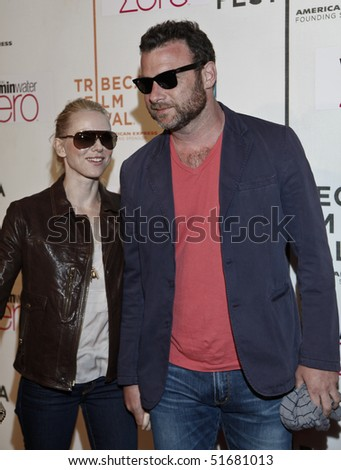 NEW YORK - APRIL 24: Liev Schreiber and Naomi Watts attend premiere of 'Every Day' during 2010 Tribeca Film Festival at BMCC Tribeca Performing Arts Center on April 24, 2010 in New York City