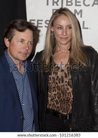 NEW YORK - APRIL 28: Michael J. Fox & Tracy Pollan attend 'Marvel's The Avengers' Premiere during the 2012 Tribeca Film Festival at the Borough of Manhattan Community College on April 28, 2012 in NYC