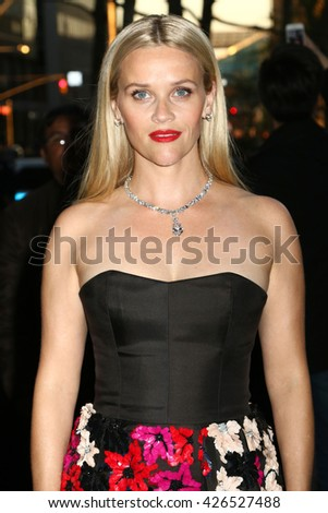 NEW YORK - APRIL 15, 2016: Reece Witherspoon attends the Tiffany & Co. Blue Book Gala on April 15, 2016, in New York.
