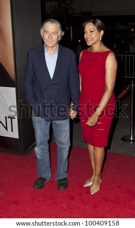 NEW YORK - APRIL 18: Robert De Niro and Grace Hightower attend premiere Five-Year Engagement at Ziegfeld Theatre during 2012 Tribeca Film Festival on April 18, 2012 in New York City