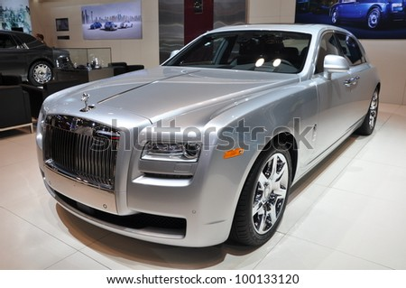 NEW YORK - APRIL 11: Rolls Royce at the 2012 New York International Auto Show running from April 6-15, 2012 in New York, NY. - stock photo