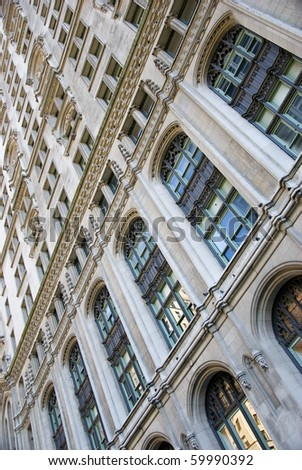 new york architecture detail - stock photo