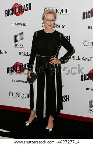 NEW YORK-AUG 3: Actress Meryl Streep attends the 'Ricki And The Flash' New York premiere at AMC Lincoln Square Theater on August 3, 2015 in New York City.