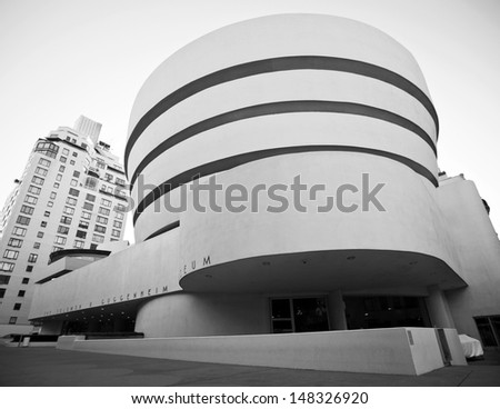NEW YORK - AUG 30: The famous Solomon R. Guggenheim Museum of modern and contemporary art, on August 30th, 2012 in New York City, USA - stock photo