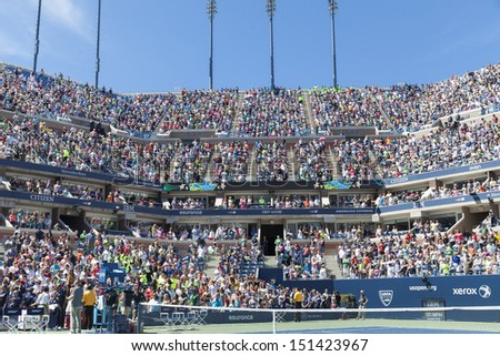 NEW YORK - AUGUST 24: Atmosphere during Arthur Ashe Kids Day presentation at Billie Jean King National Tennis Center on August 24, 2013 in New York City