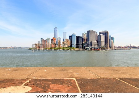 New York Bay from Governors Island in New York City