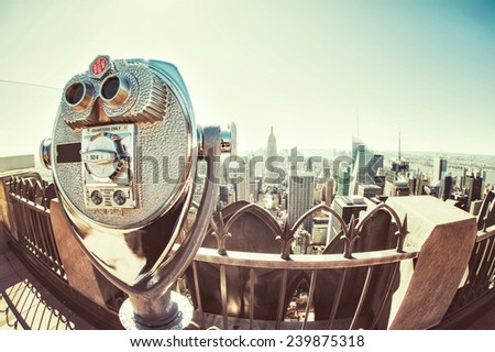 New York Binocular - stock photo