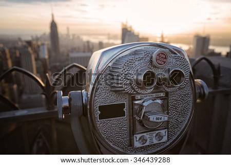 New York Binocular - stock photo