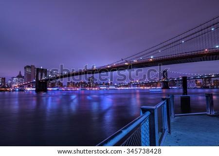 New York bridges - stock photo