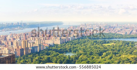 New York Central Park aerial view, Manhattan USA