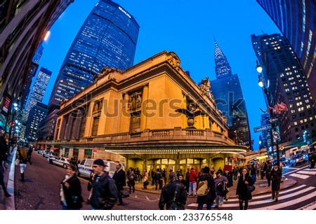 New York, circa dec 2011:Famous Grand central terminal symbol of Manhattan - stock photo