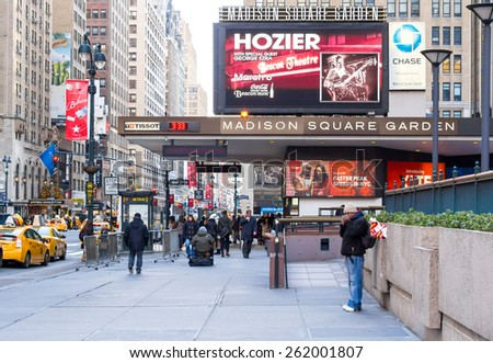 Madison Square Garden Stock-photo-new-york-circa-dec-people-walk-in-front-entrance-of-madison-square-garden-in-manhattan-262001807