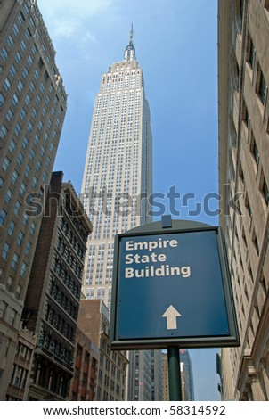 NEW YORK - CIRCA JULY 2009: The Empire State Building circa July 2009 in New York City. After the terrorist attack on 9/11/01, this is the tallest building in New York and 3rd in USA.