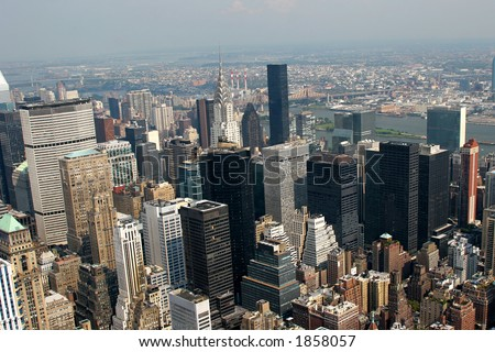 New York City – aerial view from Empire State Building