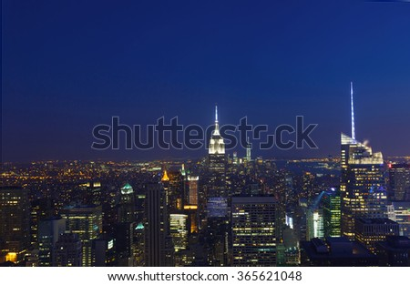 New York City aerial view of Manhattan