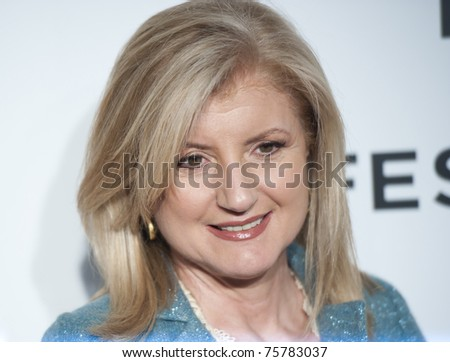 "NEW YORK CITY - APRIL 20: Arianna Huffington arrives for the opening night of the Tribeca Film Festival and world premier of ""The Union"" on April 20, 2011 in New York City, NY - stock photo"