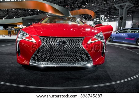 New York City - 3/25/16 - At the New York International Auto Show, Lexus displays the 2017 LC500
