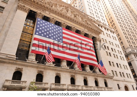NEW YORK CITY - AUGUST 24: The New york Stock Exchange August 24, 2011 in New York, NY. It is the largest exchange in the world by market capitalization.