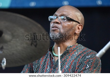 "NEW YORK CITY - AUGUST 23 2015: Thousands filled Tompkins Square Park to hear live jazz performances celebrating the life of Charlie ""Yardbird"" Parker."