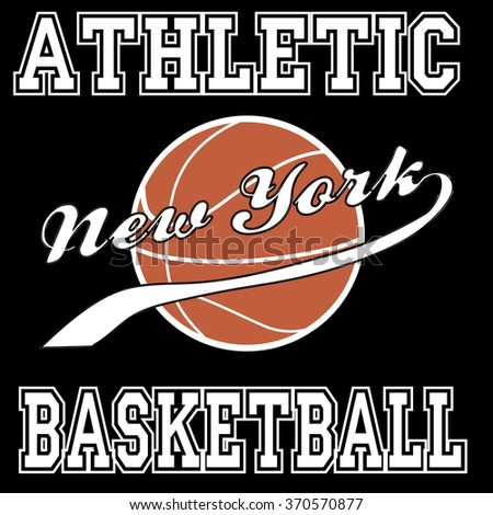 New york city basketball athletic typography, t-shirt graphics