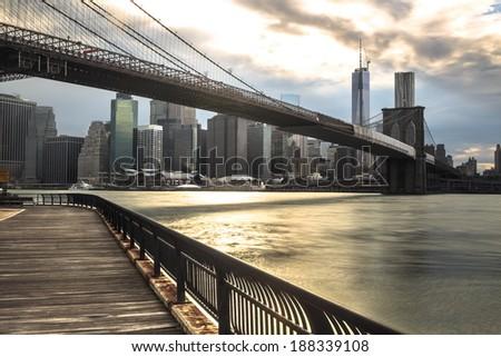 New York City Binoculars Bridge - NYC - USA  - stock photo