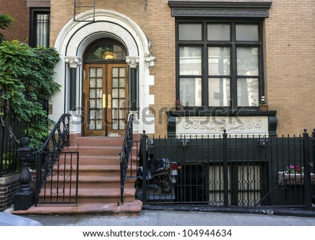 New york city brownstone on upper east side stock photo for New york city brownstone for sale