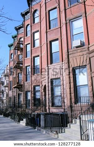 New York City brownstones - stock photo