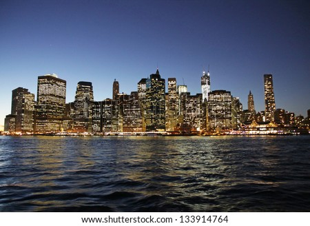 New York City by night