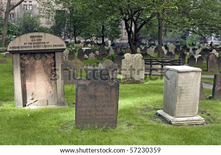 New York City cemetary - stock photo