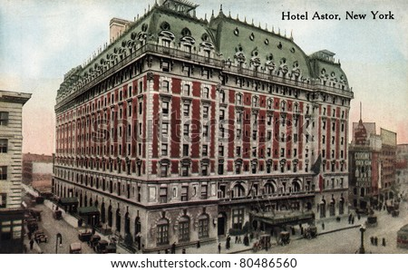 New york city circa 1912 vintage stock photo royalty free for Waldorf astoria antiques