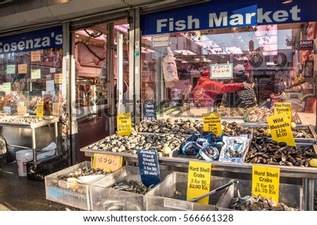 Bronx street stock images royalty free images vectors for Fish market bronx
