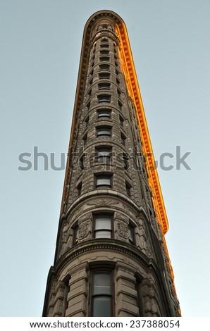 NEW YORK CITY - DECEMBER 12, 2014: Manhattan skyline and the Flatiron Building, Manhattan, New York City, USA. - stock photo