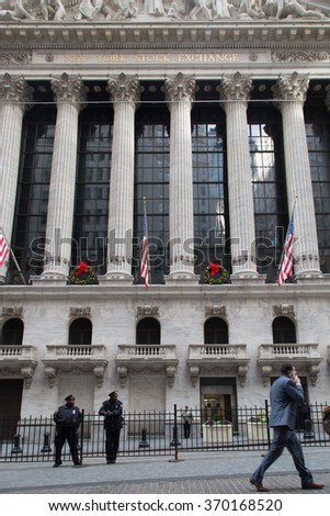 NEW YORK CITY - DECEMBER 16: The New York Stock Exchange December 16, 2015 in New York, NY. It is the largest exchange in the world by market capitalization.