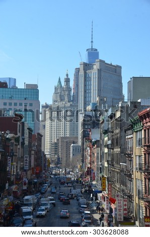 New York City - February 25, 2015: Cityscape view of Manhattan, New York City, USA.