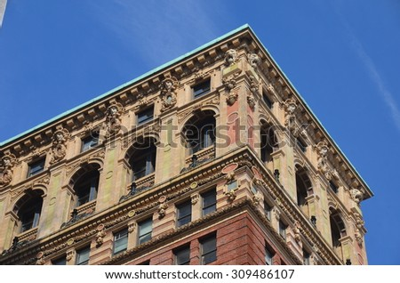 NEW YORK CITY - FEBRUARY 22, 2015: Historic Building in Manhattan, New York City, USA.