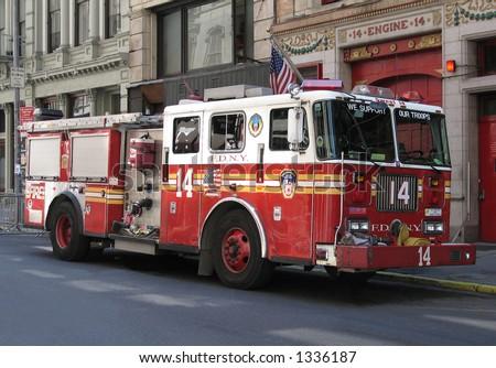 New York City Fire truck - stock photo