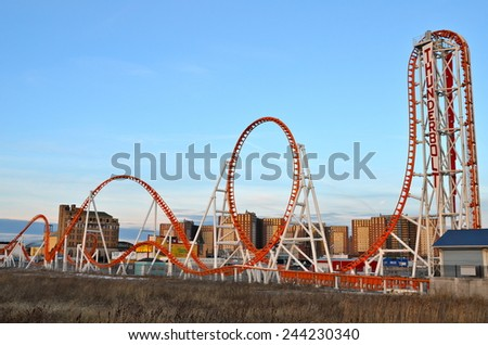 New York City - January 11, 2015: Coney Island's Luna Park on January 11, 2015, Brooklyn, New York City, USA.