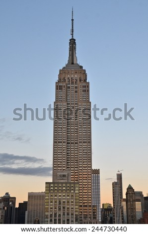 New York City - January 16, 2015: New York City Manhattan midtown view with Empire State Building, New York City, USA.