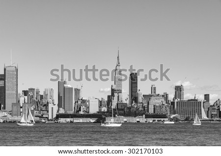 NEW YORK CITY - July 28, 2015: Cityscape view of NYC, New York City, USA.