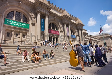 NEW YORK CITY - JULY 24:  Metropolitan Museum of Art in New York City on July 24, 2012.  The Met is a NYC landmark which and is the largest art museum in the United States. - stock photo