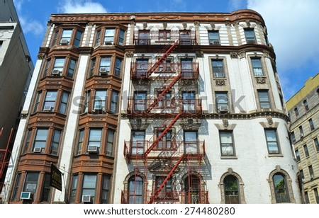 NEW YORK CITY - JUNE 17, 2008: Historic Little Italy in Lower Manhattan on June 17, 2008, NYC, USA. - stock photo