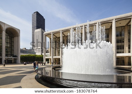 New York City - June 22: Lincoln Center and Metropolitan Opera House in New York on June 22, 2013 - stock photo