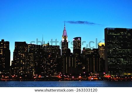 New York City - June 17, 2008: Manhattan skyline, New York City, USA - stock photo