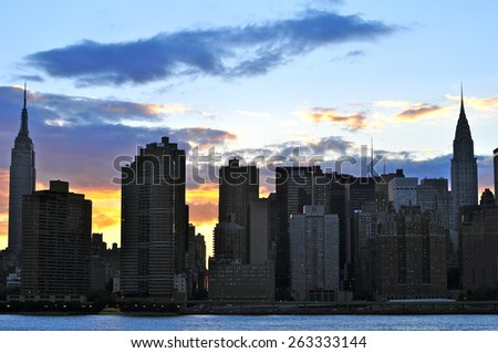 New York City - June 17, 2008: Manhattan skyline, New York City, USA - stock photo